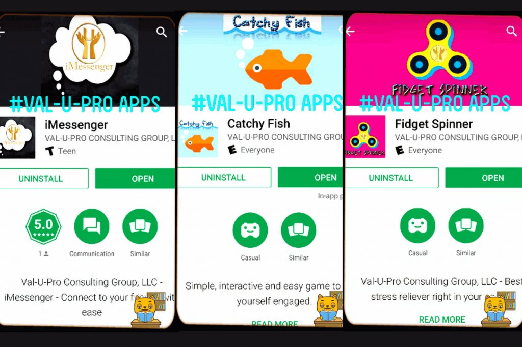 Some of our apps until now